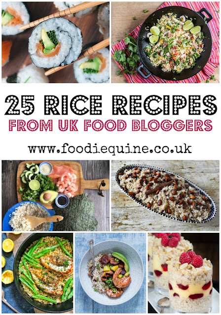 www.foodiequine.co.uk 25 Rice based Recipes from top UK food bloggers to celebrate National Rice Week 2017. Whether you're looking for inspo to use up leftovers, rustle up a quick midweek meal, or discover a new go-to salad there's something for you below.