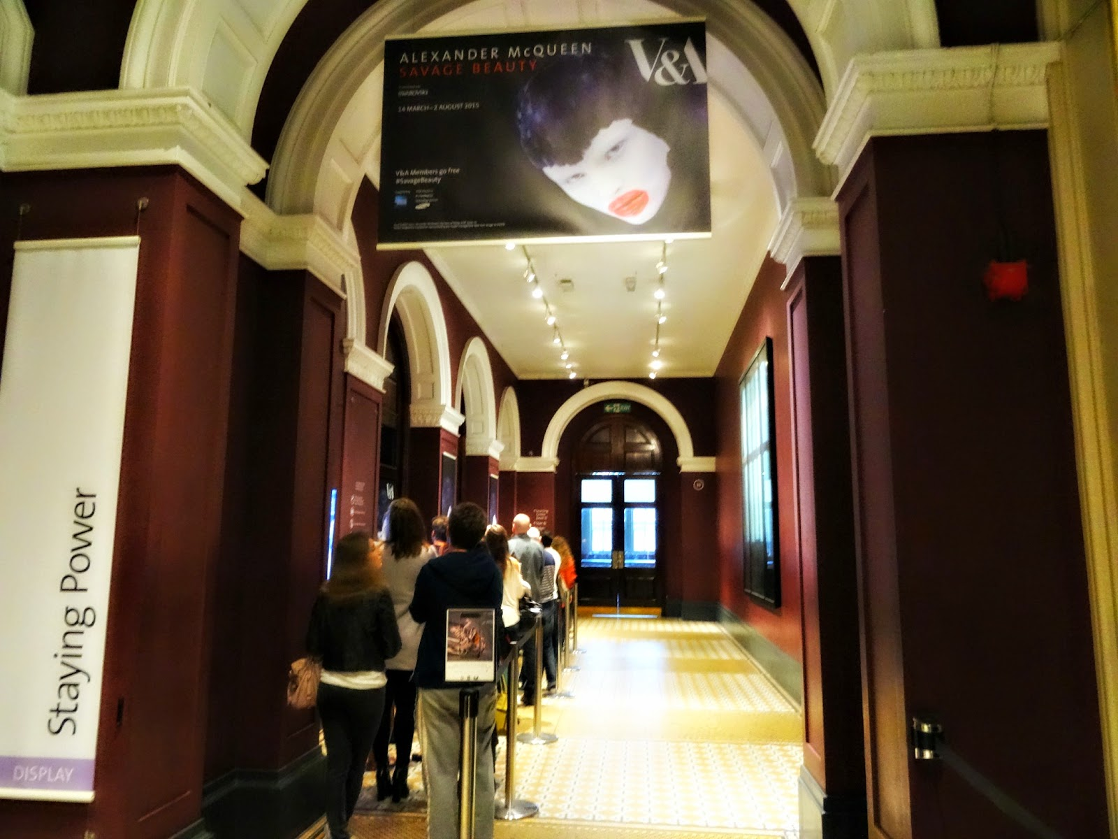 Entrance to Savage Beauty exhibition in London