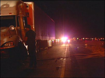 bakersfield semi truck highway 99 kern county crash big rig