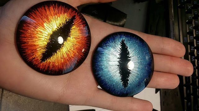 Gemstones with effects + dragon eyes made easy – tutorial by Germia