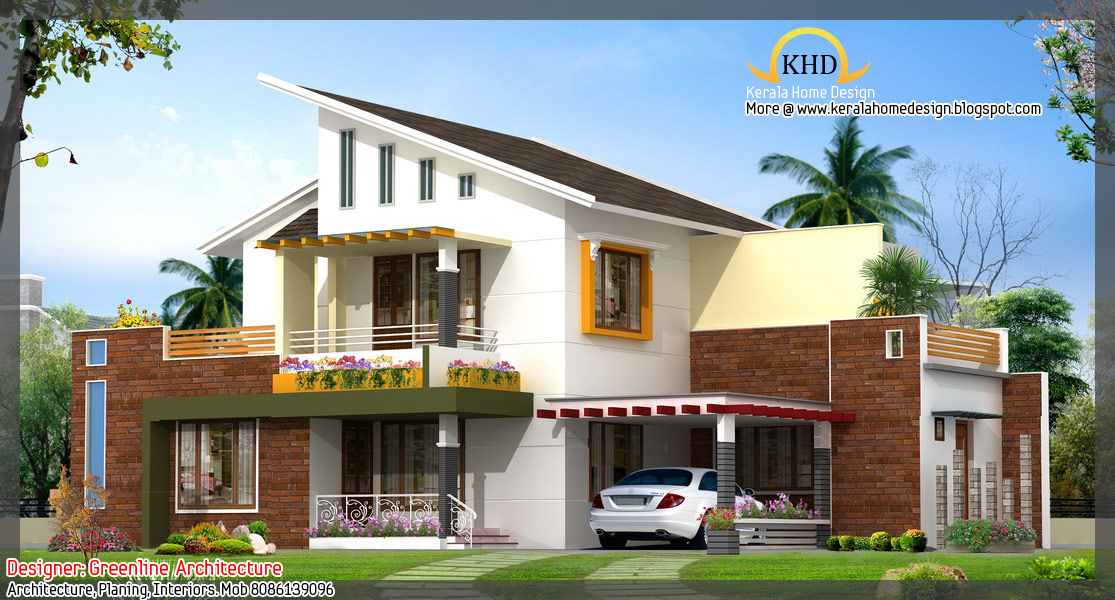 16 awesome house elevation designs kerala home design for Home plans with a view