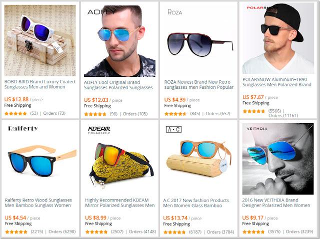 Óculos de sol para homem Aliexpress  Online