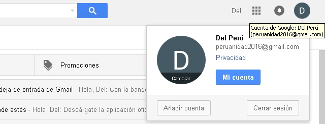 Cerrar sesión Gmail