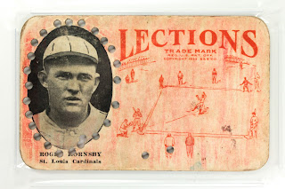 1923 Roger Hornsby Lections baseball card PSA graded