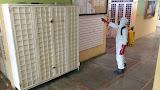 Bomberos Mérida realizó jornada de desinfección en el Mercado Murachí