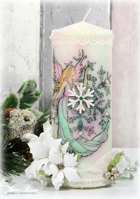 Shabby chic DIY handmade Christmas ornament