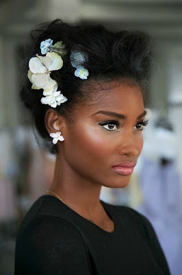 black girl updo hairstyle