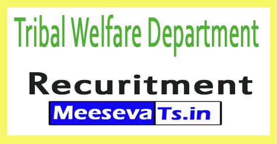 Tribal Welfare Department Tripura Recruitment Notification 2017