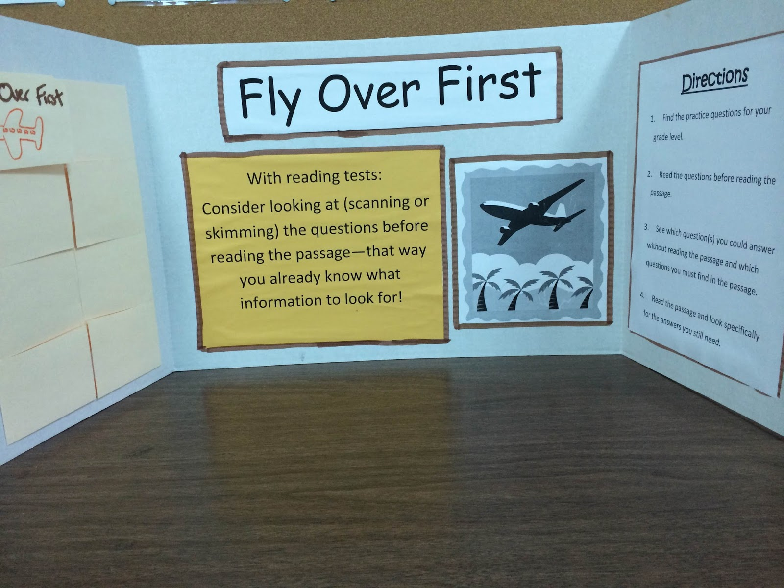 Teacher made Test taking skills activity center example