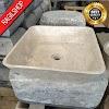 Wastafel marmer tulungagung kotak polos asli batualam