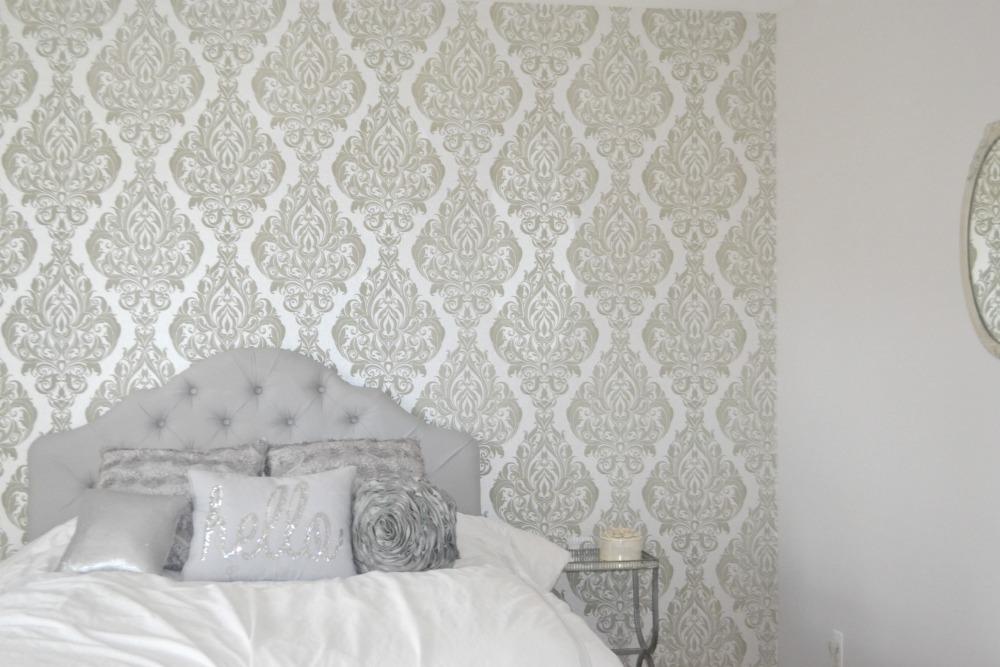 Grey And Glam Teen Bedroom Makeover Diy Rachel Teodoro