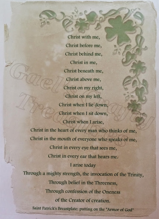 St Patrick's Breastplate Printable