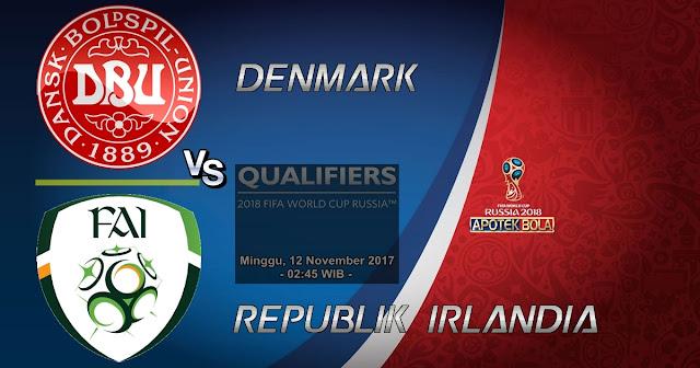 Prediksi Denmark vs Republik Irlandia 12 November 2017