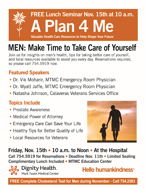 "Dignity Health: ""A Plan 4 Me"" Men's Health Seminar - Fri Nov 15"
