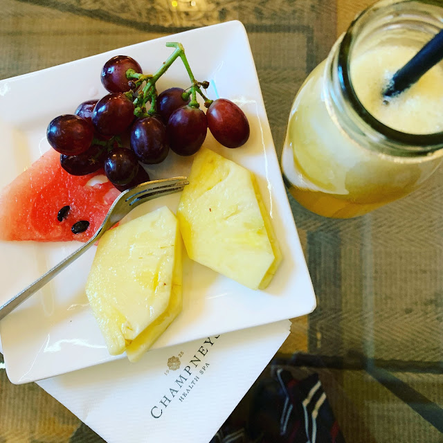 fruit plate at Champneys