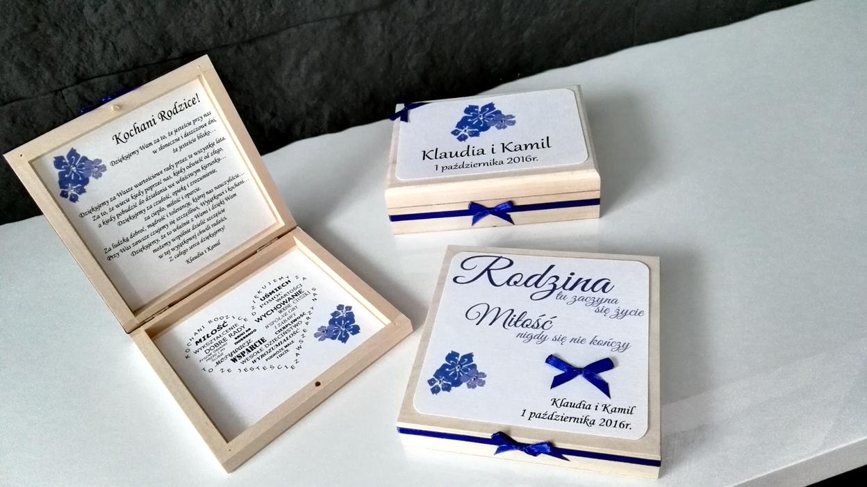 Papierowe Marzenia Zaproszenia ślubne Szkatułki I Pudełko Dla