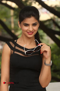 Actress Kamna Ranwat  Pictures in Black Short Dress at Selfie Raja Interview  0023