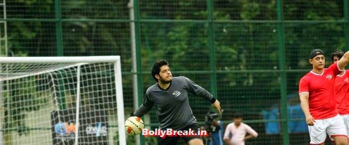 Junaid Khan, Bollywood Celebs play football match for Aamir khan's daughter Ira Khan