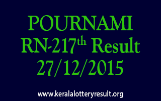 POURNAMI RN 217 Lottery Result 27-12-2015