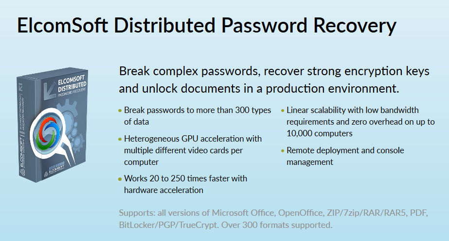 elcomsoft distributed password recovery crack