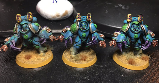 Alpha Legion Obliterator Conversions from Primaris Aggressors!