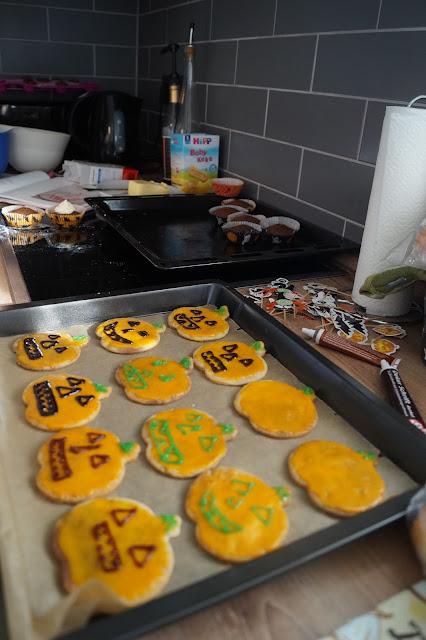 halloween kürbis kekse