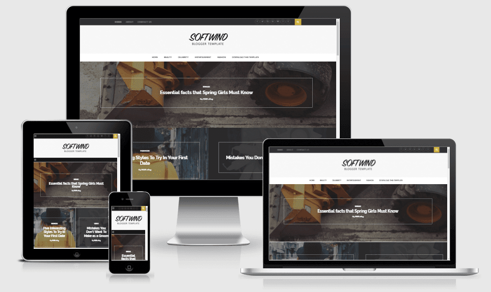 SoftWind - Responsive Stylish Blogger Template