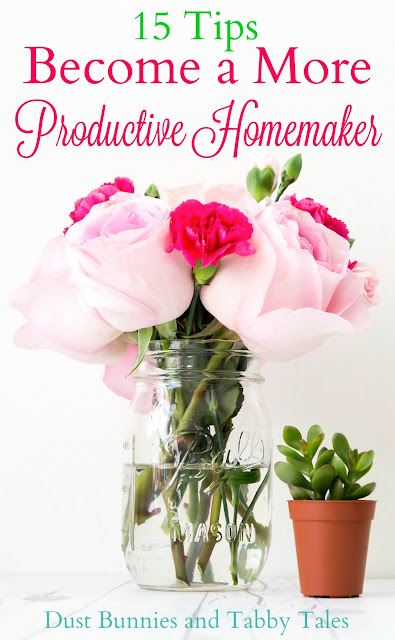 15 Tips to Become a More Productive Homemaker