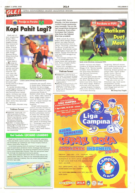 LIGA INDONESIA BANK MANDIRI 2002: PERSIJA VS PERSITA