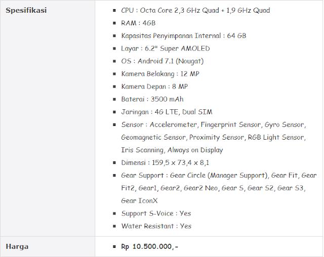 Hp Samsung Terbaru - Harga dan Spesifikasi Galaxy S8 Plus