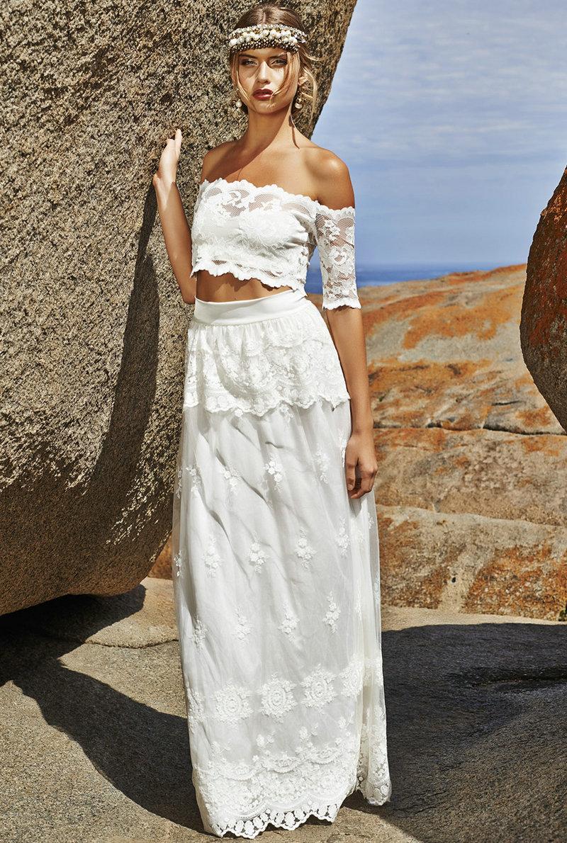 04 crop top wedding dress Crop Top Two Pieces