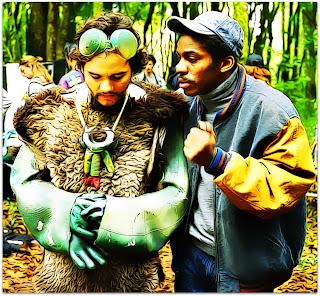 Wagner Moura e Lázaro Ramos, em Saneamento Básico, O Filme (2007)