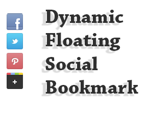 Social media networks ever corking resources to larn traffic Dynamic Floating Social Bookmark Widget for Blogger