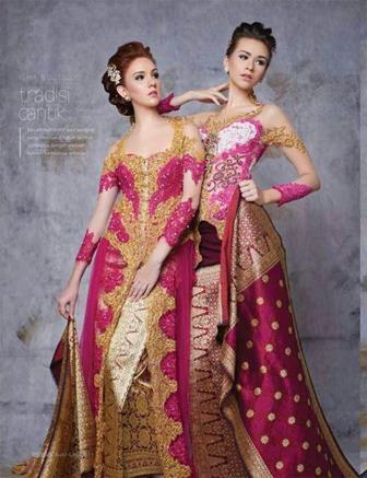 Model Kebaya Brokat Tile Modifikasi Songket Tradisional