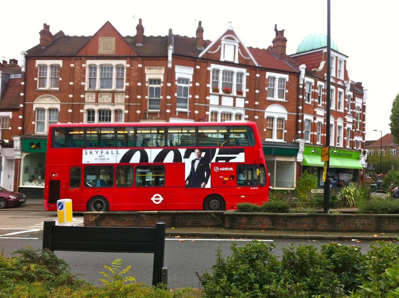 James Bond is everywhere in London - Helena Halme Author