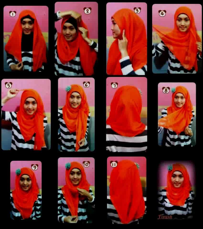 28 Ide Tutorial Hijab Segi Empat Mudah Paling Update Tutorial