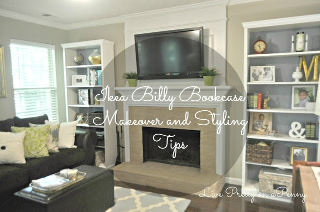#bookcasemakeover #bookcasestyling #billybookcase