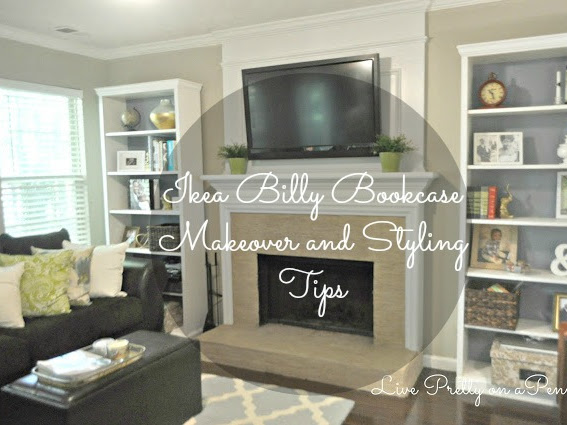Ikea Billy Bookcase Makeover and Styling Tips