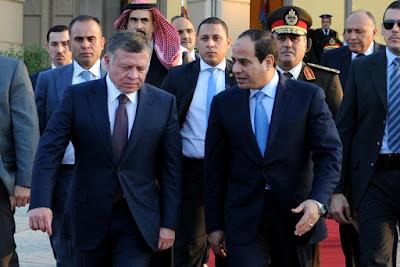 الرئيس السيسى والملك عبد الله العاهل الإردني