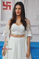 Telugu Actress Amyra Dastur Stills in White Skirt and Blouse at Anandi Indira Production LLP Production no 1 Opening  0035.JPG