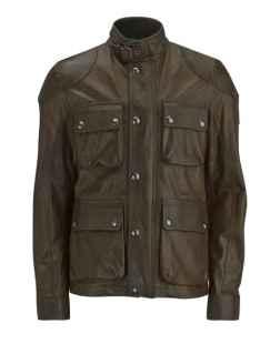model jaket kulit militer vintage waktu perang eropa