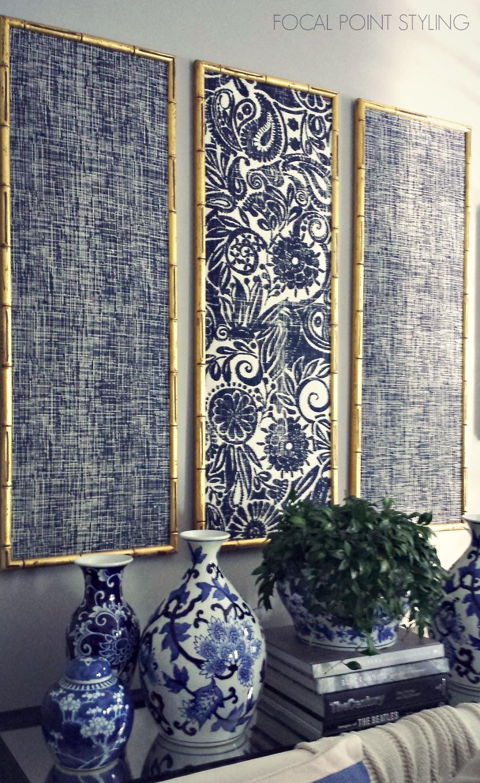 FOCAL POINT STYLING: DIY Indigo Wall Art With Framed Fabric