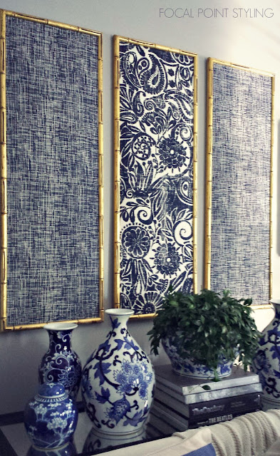 Focal Point Styling Diy Indigo Wall Art With Framed Fabric