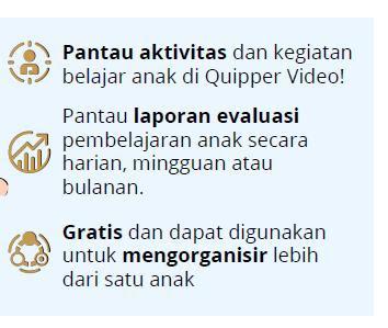 fitur orang tua adalah gratis bagi member quipper video