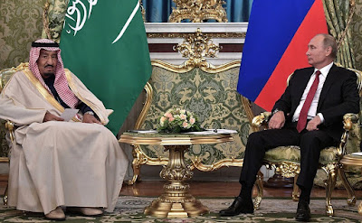 King Salman bin Abdulaziz Al Saud of Saudi Arabia and President of Russia Vladimir Putin.