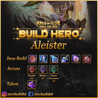 Item build, arcana, dan talent untuk Aleister