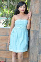 Sahana New cute Telugu Actress in Sky Blue Small Sleeveless Dress ~  Exclusive Galleries 036.jpg