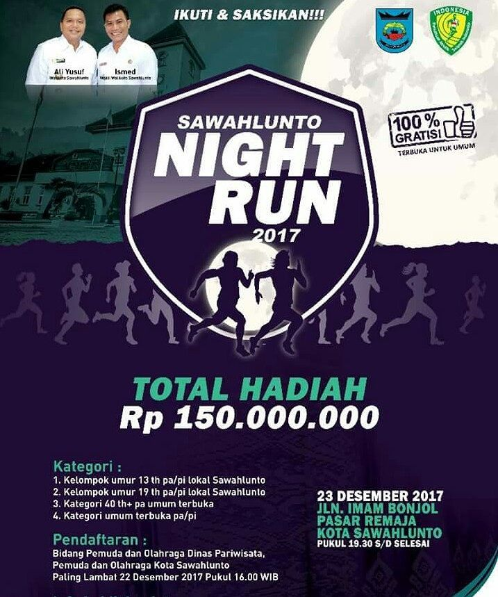 Sawahlunto Night Run • 2017