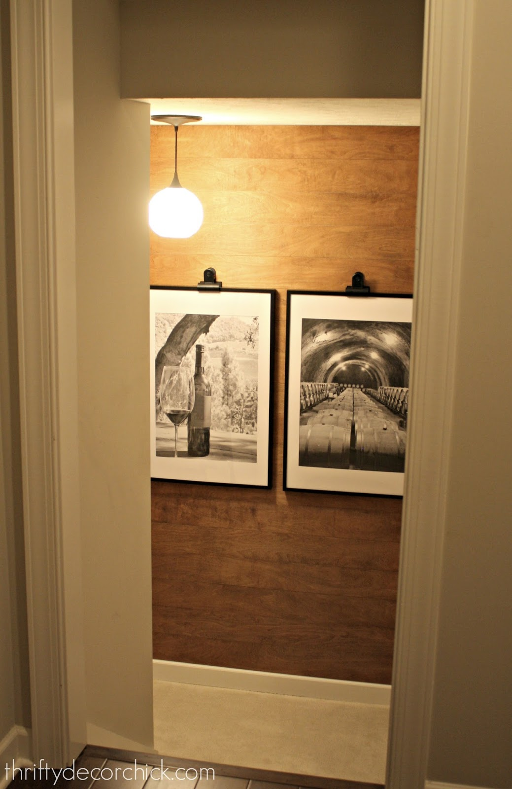 Beautiful warm wood planked wall project