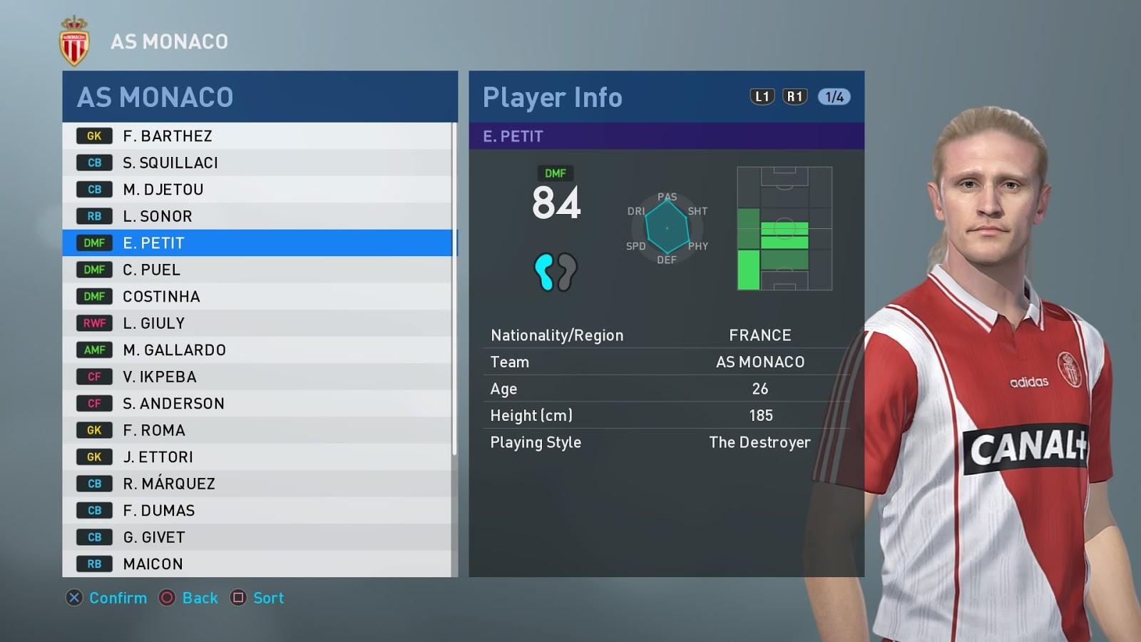 PES 2019 PS4 Option File UEFA Classic League V5 (90's-00's